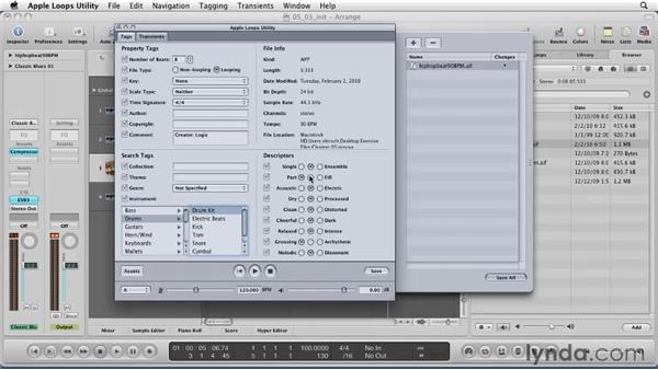 Creating your own Apple Loop: Logic Pro 9 Essential Training