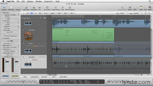 Using the new Flex Time feature: Logic Pro 9 Essential Training