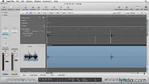 Beat mapping your project: Logic Pro 9 Essential Training