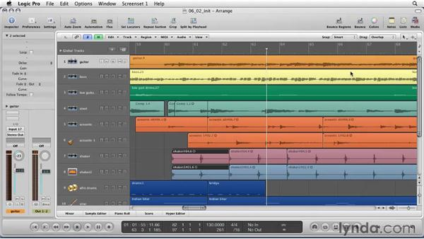 Tips for editing and arranging : Logic Pro 9 Essential Training