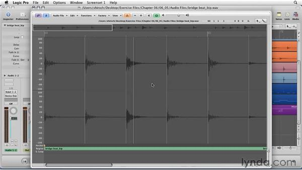 Fixing and morphing sound with the Sample Editor: Logic Pro 9 Essential Training