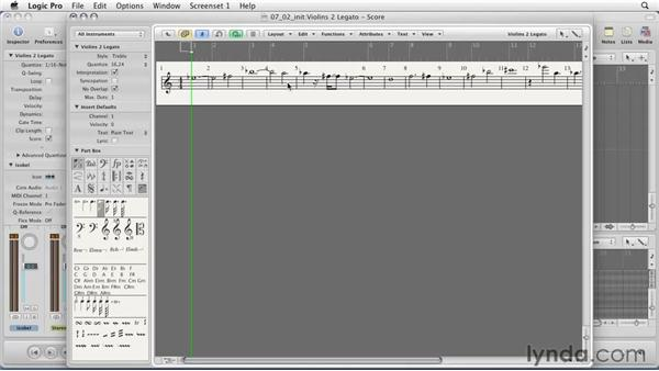 Editing notes, keys, and time signatures: Logic Pro 9 Essential Training