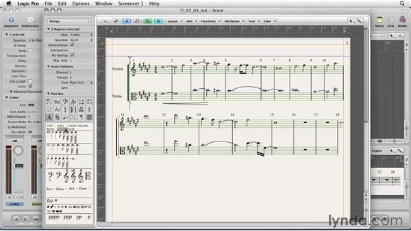 Creating scores and lead sheets for musicians: Logic Pro 9 Essential Training