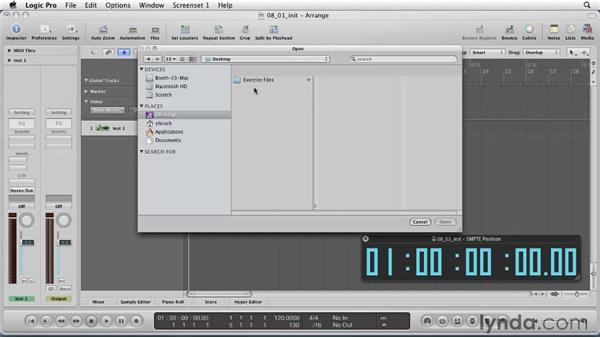 Setting up for a sync video project: Logic Pro 9 Essential Training