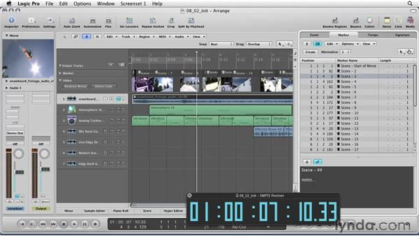 Scoring music to video: Logic Pro 9 Essential Training