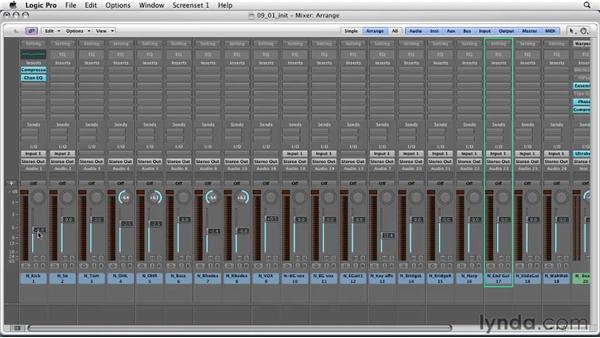 Mixing philosophies and five tools for mixing: Logic Pro 9 Essential Training