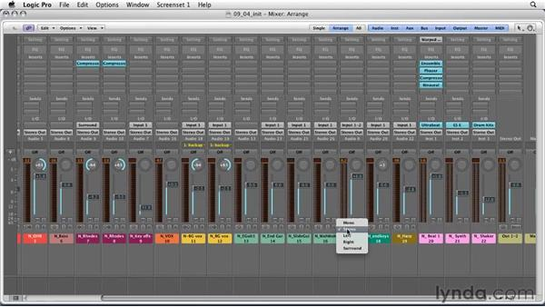 Exploring Logic's panning features: Logic Pro 9 Essential Training