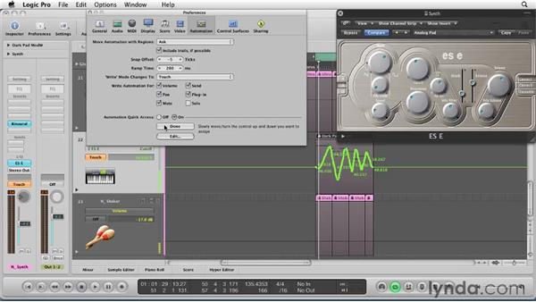 Giving your mix life with automation: Logic Pro 9 Essential Training