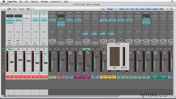 Optimizing performance with freeze tracks: Logic Pro 9 Essential Training