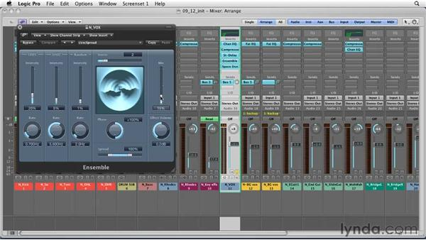 Using channel strips for audio processing: Logic Pro 9 Essential Training