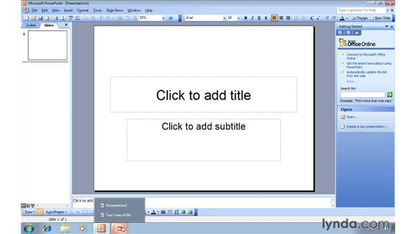 Exploring the new Ribbon interface: Migrating from PowerPoint 2003 to PowerPoint 2007