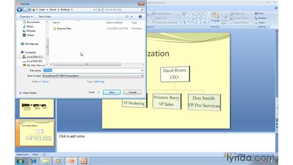 Saving PowerPoint 2007 files in the PowerPoint 97-2003 file format: Migrating from PowerPoint 2003 to PowerPoint 2007
