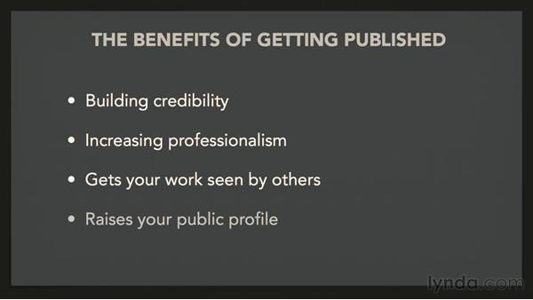 The benefits of getting published: On Getting Published