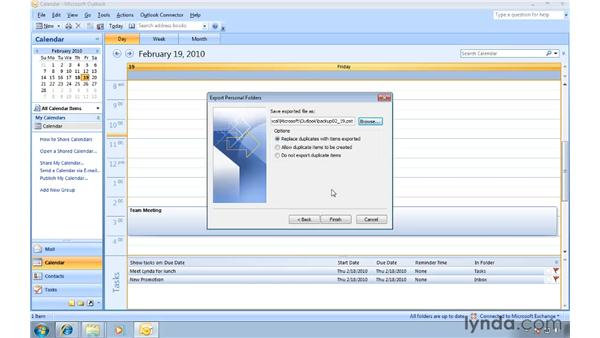 Using Import and Export to transfer your .PST file: Migrating from Outlook 2003 to Outlook 2007