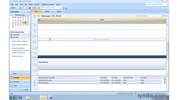 Sharing calendars for the purpose of collaboration: Migrating from Outlook 2003 to Outlook 2007