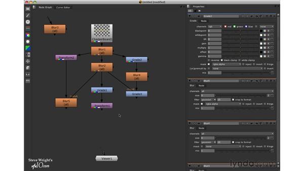 Editing node trees: Nuke 5 Essential Training