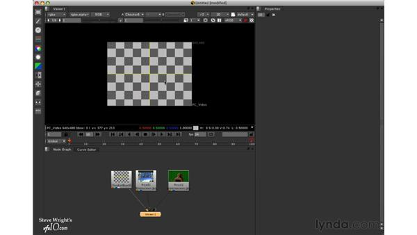 Resizing and cropping different formats: Nuke 5 Essential Training
