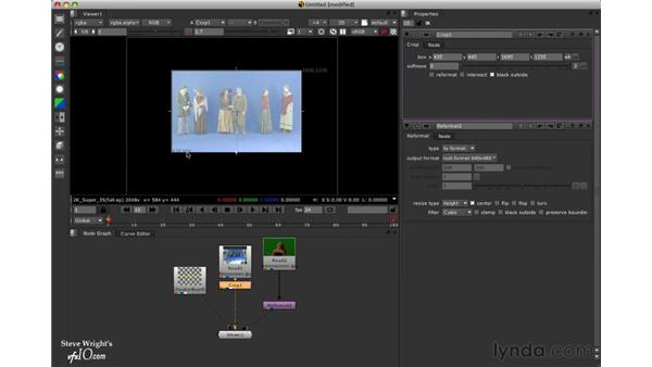 Cropping images: Nuke 5 Essential Training