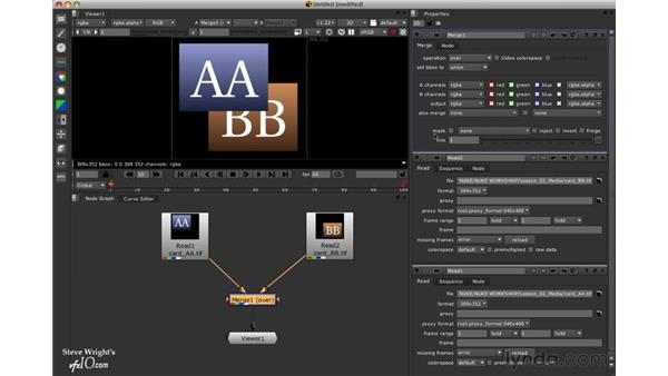 Image blending operations: Nuke 5 Essential Training