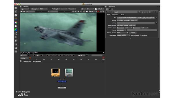 Working with pre-multiplied CGI images: Nuke 5 Essential Training