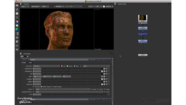 Compositing a multichannel element in an EXR file: Nuke 5 Essential Training
