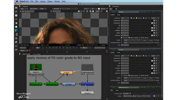 Adding more control to blended edges: Nuke 5 Essential Training