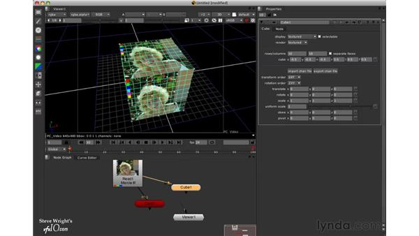 Adding a 3D cube: Nuke 5 Essential Training