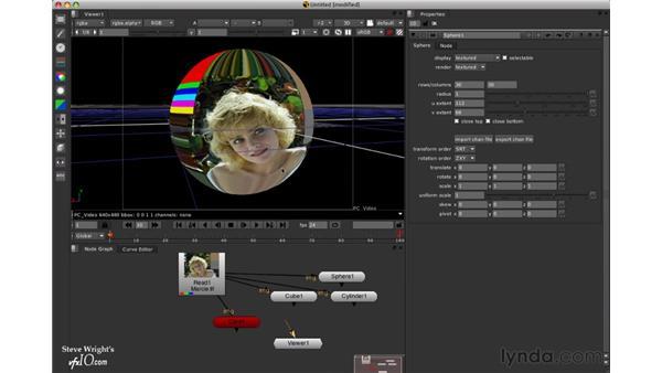 Adding a 3D sphere: Nuke 5 Essential Training