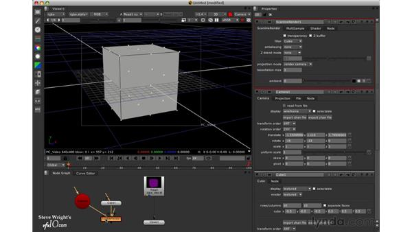 Viewing geometry over the background: Nuke 5 Essential Training