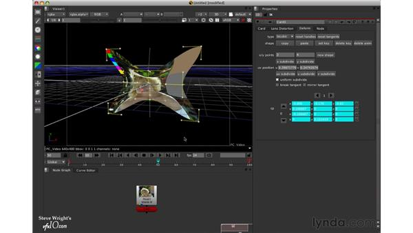 Animating bicubics: Nuke 5 Essential Training