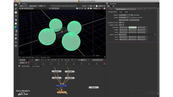 Hierarchical animation: Nuke 5 Essential Training