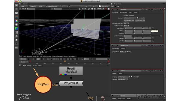 The Project3D node: Nuke 5 Essential Training