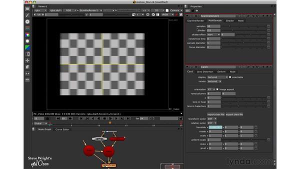 3D motion blur: Nuke 5 Essential Training