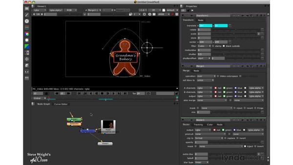 The Motion Blur 2D node: Nuke 5 Essential Training