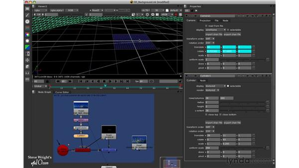 Project: Adding a 3D background to a clip: Nuke 5 Essential Training