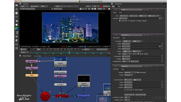 Aligning the background: Nuke 5 Essential Training