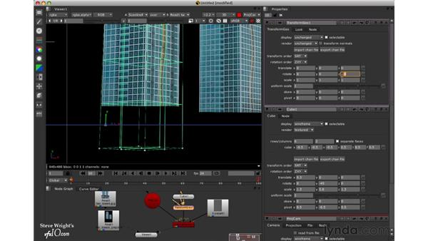 Roughing in the first tower: Nuke 5 Essential Training