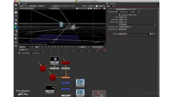 Project: 3D re-projection: Nuke 5 Essential Training
