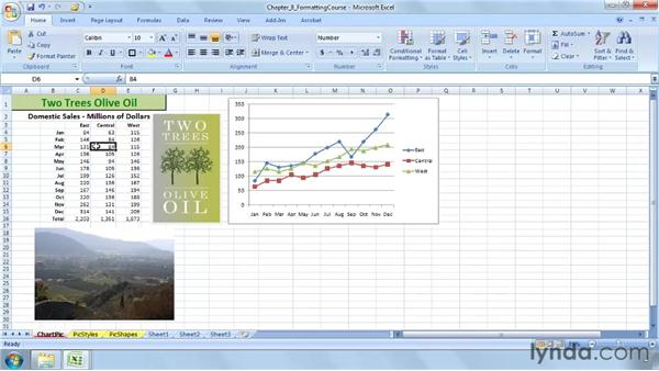 Converting a chart to a picture and adding new images: Excel 2007: Advanced Formatting Techniques