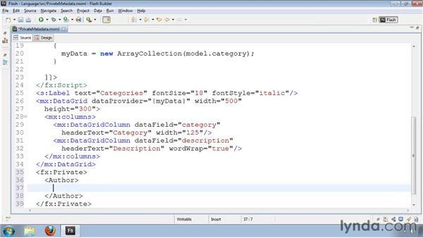 Declaring meta information in MXML files: Flash Builder 4 and Flex 4 New Features