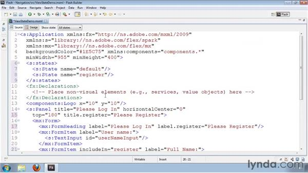Declaring view states in MXML files: Flash Builder 4 and Flex 4 New Features