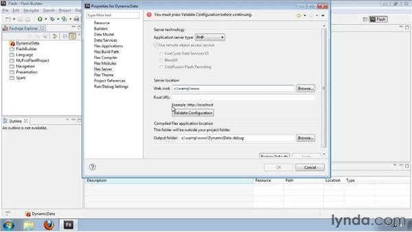 Integrating a project with an application server: Flash Builder 4 and Flex 4 New Features