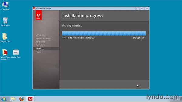 Installing Flash Builder on Windows: Flash Builder 4 and Flex 4 Essential Training