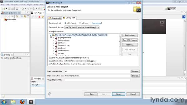 Creating the Hello World application: Flash Builder 4 and Flex 4 Essential Training