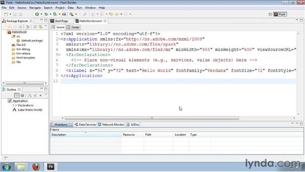 Using Eclipse views and editors: Flash Builder 4 and Flex 4 Essential Training