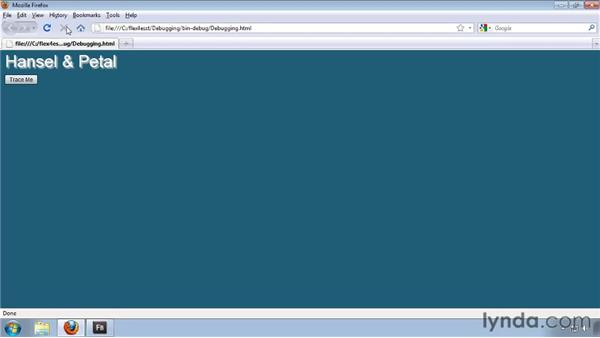 Starting and stopping debugging sessions: Flash Builder 4 and Flex 4 Essential Training