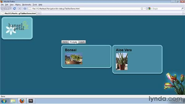 Using the TabNavigator and Accordion containers: Flash Builder 4 and Flex 4 Essential Training