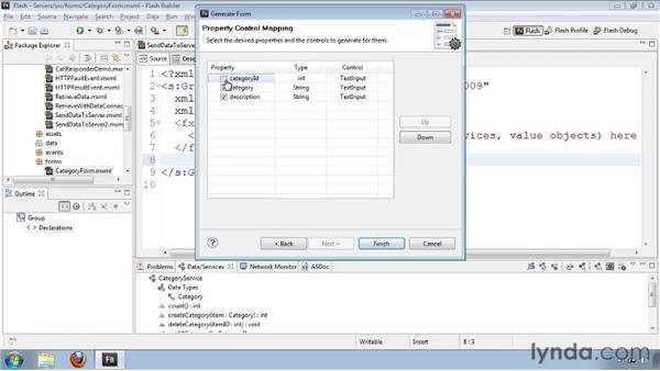 Generating a data entry form: Flash Builder 4 and Flex 4 Essential Training