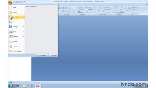 Converting older databases to Access 2007: Migrating from Access 2003 to Access 2007