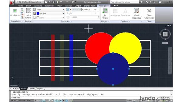 Applying transparency to objects: AutoCAD 2011 New Features